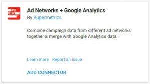 data studio connectors ad networks