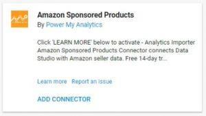 data studio connectors 10 amazon sponsored sales