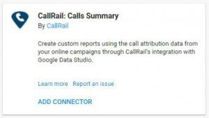 data studio connectors callrails