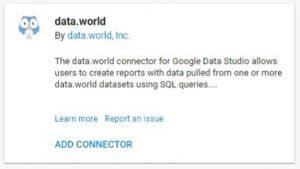 data studio connectors dataworld