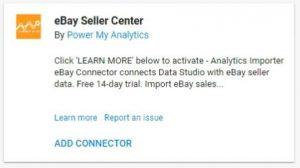 data studio connectors ebay seller power my analytics