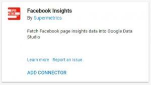 data studio connectors facebook insights supermetrics