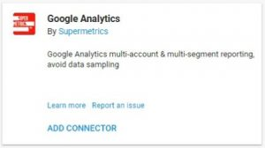 data studio connectors google analytics supermetrics