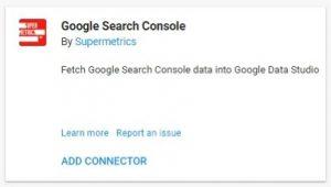 data studio connectors google search console supermetrics
