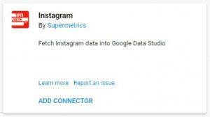 data studio connectors instagram supermetrics