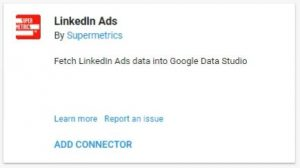 data studio connectors linkedIn ads