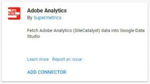 data studio connectors adobe analytics
