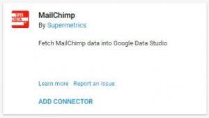 data studio connectors mailchimp supermetrics