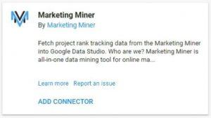 data studio connectors 32 marketing minor