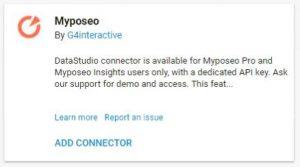 data studio connectors myposeo