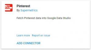 data studio connectors pinterest supermetrics
