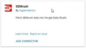 data studio connectors semrush supermetrics