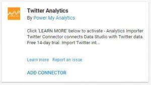 data studio connectors twitter analytics super metrics