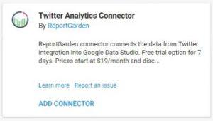 data studio connectors twitter analytics report garden