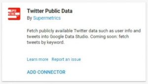data studio connectors twitter public data supermetrics