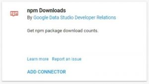 data studio connectors npm downloads