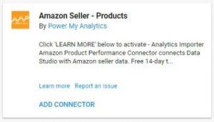 data studio connectors 8 amazon seller products