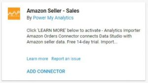 data studio connectors 9 amazon seller sales